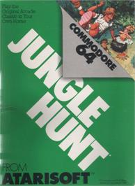 Box cover for Jungle Hunt on the Commodore 64.
