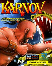 Box cover for Karnov on the Commodore 64.