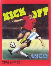 Box cover for Kick Off on the Commodore 64.