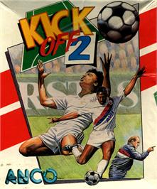 Box cover for Kick Off 2 on the Commodore 64.
