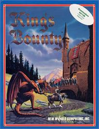 Box cover for King's Bounty on the Commodore 64.