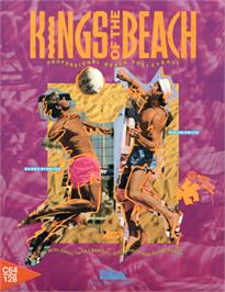 Box cover for Kings of the Beach on the Commodore 64.