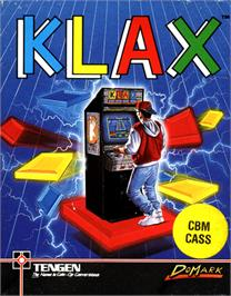 Box cover for Klax on the Commodore 64.