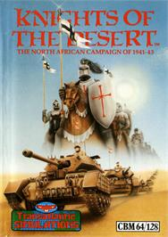 Box cover for Knights of the Desert: The North African Campaign of 1941-1943 on the Commodore 64.