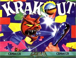 Box cover for Krakout on the Commodore 64.