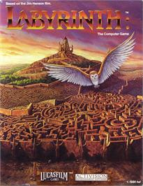 Box cover for Labyrinth on the Commodore 64.