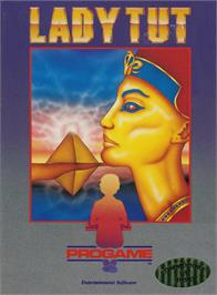 Box cover for Lady Tut on the Commodore 64.