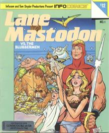 Box cover for Lane Mastodon vs. the Blubbermen on the Commodore 64.