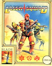 Box cover for Laser Squad on the Commodore 64.