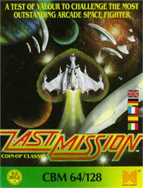 Box cover for Last Mission on the Commodore 64.
