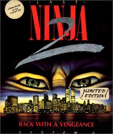Box cover for Last Ninja 2: Back with a Vengeance on the Commodore 64.