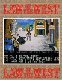 Box cover for Law of the West on the Commodore 64.