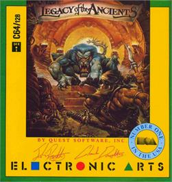 Box cover for Legacy of the Ancients on the Commodore 64.