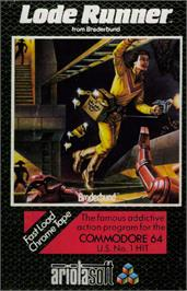 Box cover for Lode Runner on the Commodore 64.
