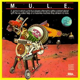 Box cover for M.U.L.E. on the Commodore 64.