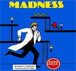 Box cover for Madness on the Commodore 64.