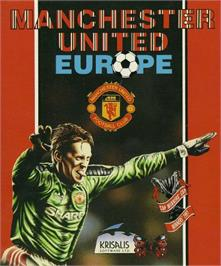 Box cover for Manchester United Europe on the Commodore 64.