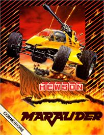 Box cover for Marauder on the Commodore 64.
