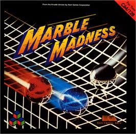 Box cover for Marble Madness on the Commodore 64.