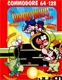 Box cover for Mario Bros. on the Commodore 64.