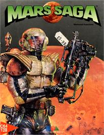 Box cover for Mars Saga on the Commodore 64.