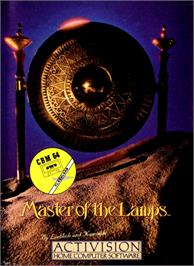 Box cover for Master of the Lamps on the Commodore 64.