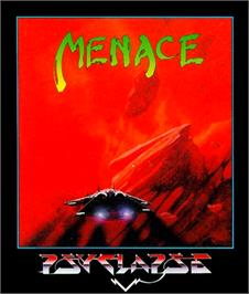 Box cover for Menace on the Commodore 64.