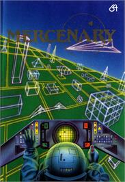 Box cover for Mercenary: Escape From Targ with the Second City on the Commodore 64.