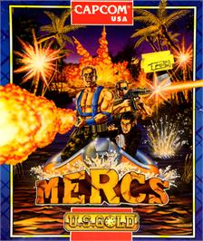 Box cover for Mercs on the Commodore 64.