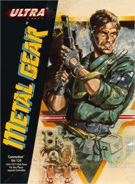 Box cover for Metal Gear on the Commodore 64.