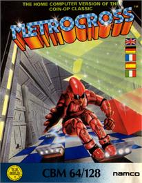 Box cover for Metro Cross on the Commodore 64.