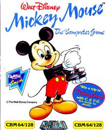 Box cover for Mickey Mouse: The Computer Game on the Commodore 64.