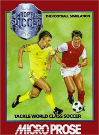 Box cover for Microprose Pro Soccer on the Commodore 64.