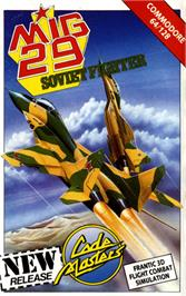 Box cover for Mig-29 Soviet Fighter on the Commodore 64.