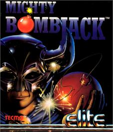 Box cover for Mighty Bombjack on the Commodore 64.