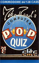 Box cover for Mike Read's Computer Pop Quiz on the Commodore 64.