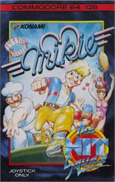 Box cover for Mikie on the Commodore 64.