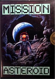 Box cover for Mission: Asteroid on the Commodore 64.