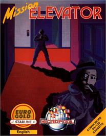 Box cover for Mission Elevator on the Commodore 64.
