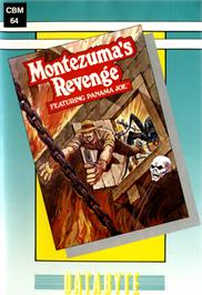 Box cover for Montezuma's Revenge on the Commodore 64.