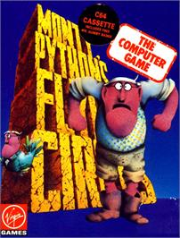 Box cover for Monty Python's Flying Circus on the Commodore 64.