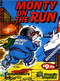 Box cover for Monty on the Run on the Commodore 64.