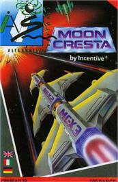 Box cover for Moon Cresta on the Commodore 64.