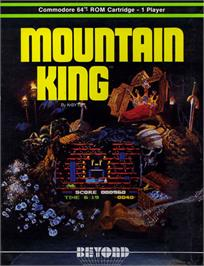 Box cover for Mountain King on the Commodore 64.