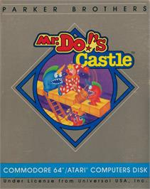 Box cover for Mr. Do!'s Castle on the Commodore 64.