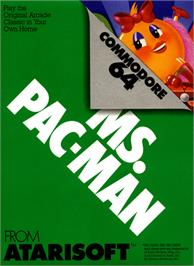 Box cover for Ms. Pac-Man on the Commodore 64.