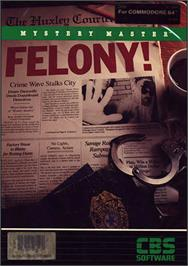 Box cover for Mystery Master: Felony! on the Commodore 64.