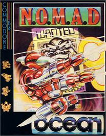 Box cover for N.O.M.A.D. on the Commodore 64.
