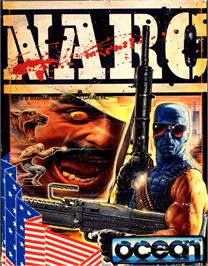Box cover for NARC on the Commodore 64.