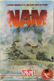 Box cover for Nam on the Commodore 64.